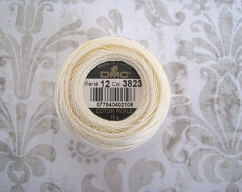 DMC 3823 Ultra Pale Yellow Perle Cotton Thread Size 12