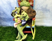 PDF Pattern Toad Doll, Frog Doll, Baby Toads, Primitive Doll, Primitive Pattern