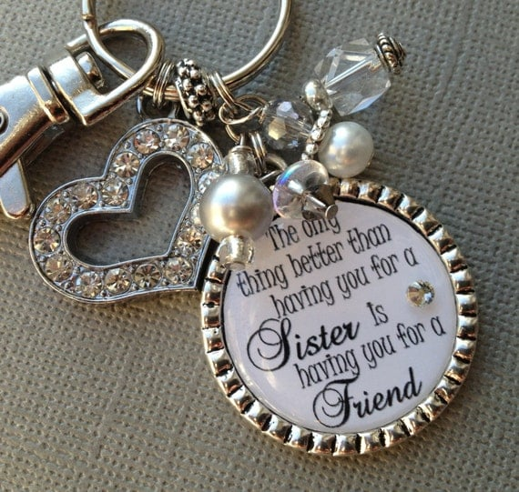 SISTER Gift PERSONALIZED Wedding Quote Birthday Maid Of
