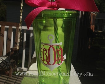 Anchor and Monogram Vinyl Decal