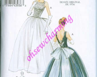 1956 Vogue 8729 Sewing Pattern Vintage styled Size 14-16-18-20 reissue Ball Dress Gown Evening Full