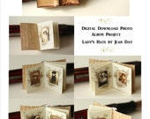 Victorian Lady's Hat Photo Album Miniature  Book 1:12 scale Printable Project, Dollhouse Instant Download  DH005