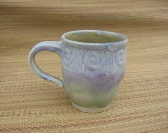 Handmade Carved Mug