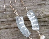 RECYCLED Curved Wine Bottle Earrings