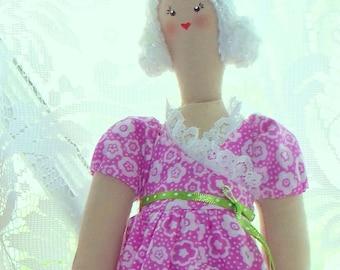Soft Cloth Doll -  Aunt Tilly Cloth Doll