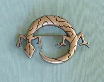 Vintage Lizard Pin Brooch