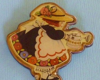 Bloom Where You're Planted Mary Englebreit Brooch