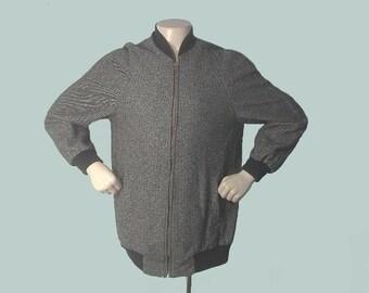 Vintage 50's FLECKED Tweed Rockabilly Car Club Jacket L/XL
