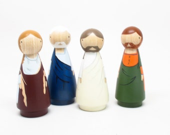 The Transfiguration // Easter Gift // Catholic Saints Fair Trade Peg Dolls Modern Doll House - Goose Grease Wooden Toys