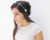Silver Headband - Wedding Hair Accessory - Great Gatsby Prom - 1920s Flapper Costume Headpiece - Bridesmaids Hair Ties - Wedding Party
