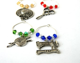 Crafter Wine Charms Set of Four