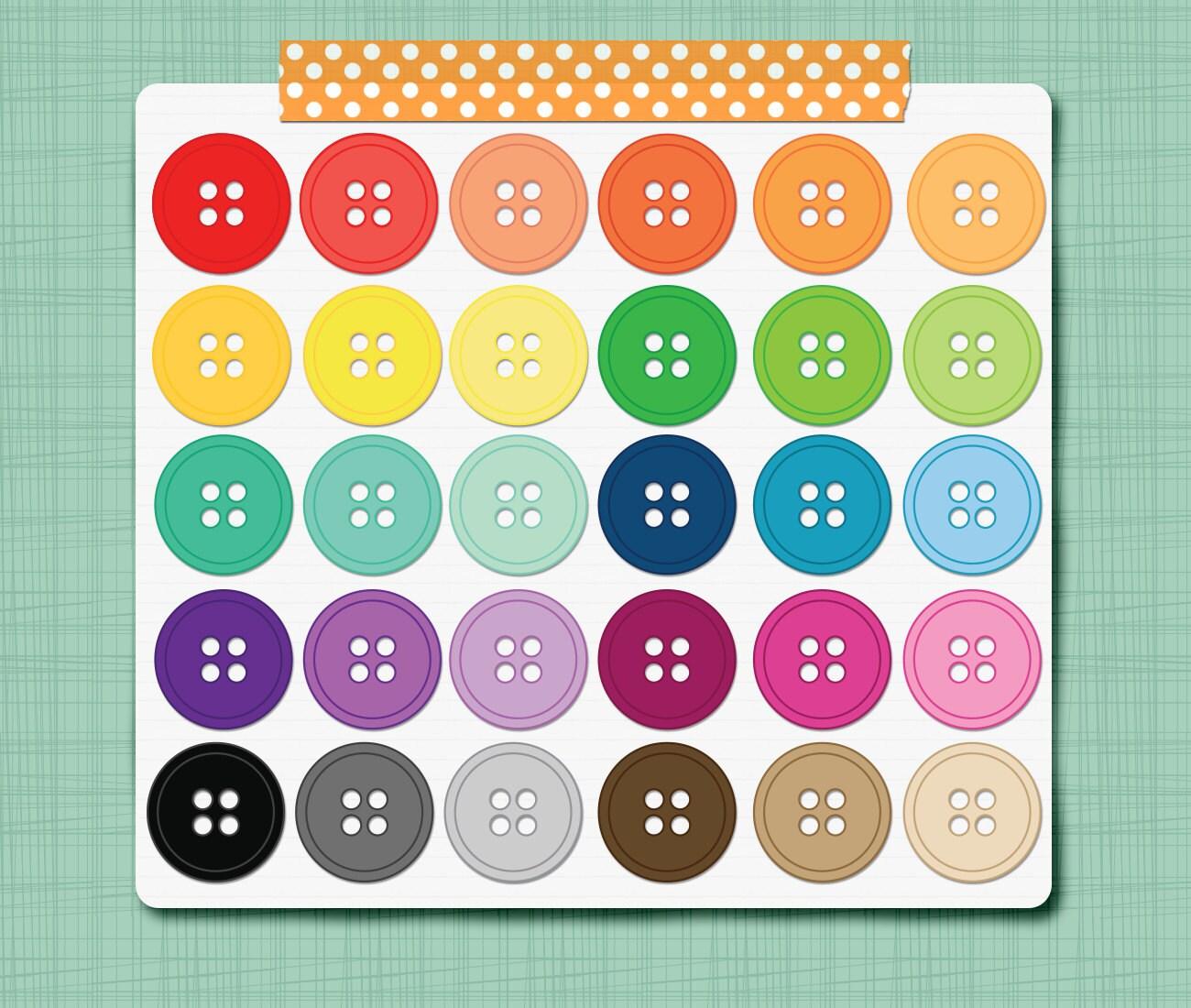 clothes buttons clip art - photo #32