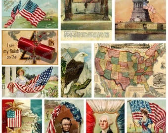State Map Postcards Etsy - Us map photo collage