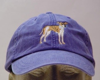 ITALIAN GREYHOUND DOG Hat - One Embroidered Men Women Cap - Price Embroidery Apparel - 24 Color Caps Available
