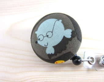 Retractable Badge Holder / ID Badge Reel (Clip-on) - Gopher