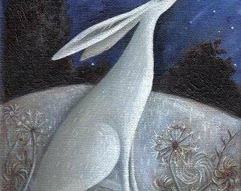 Wishing On A Blue Moon. Archival Art Print.