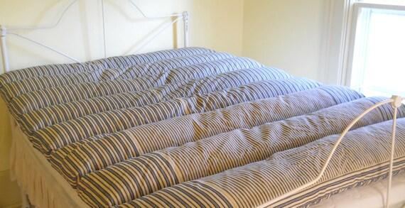 Vintage Feather Bed Mattress Tick