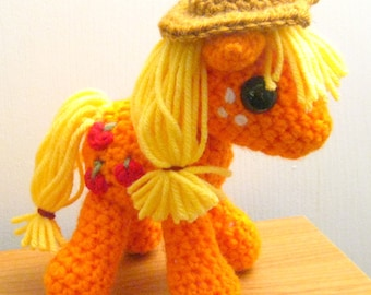 Applejack with Cutie Mark - My Little Pony Friendship is Magic Amigurumi Crocheted MLP Plush Doll