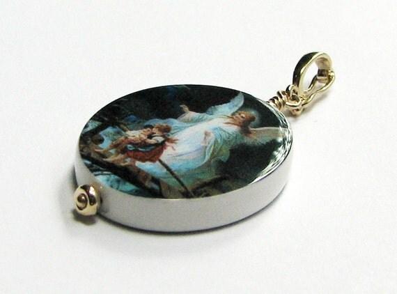 Photo Jewelry - 14K Gold Edition Oval Photo Pendant - Medium - P10G