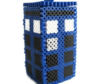 Doctor Who Tardis Perler Secret Box