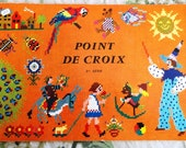 Vintage Book DMC, French, Point de Droix, cross stitch, 1974, made in France
