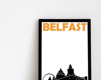 Belfast Print // Northern Ireland Art Print
