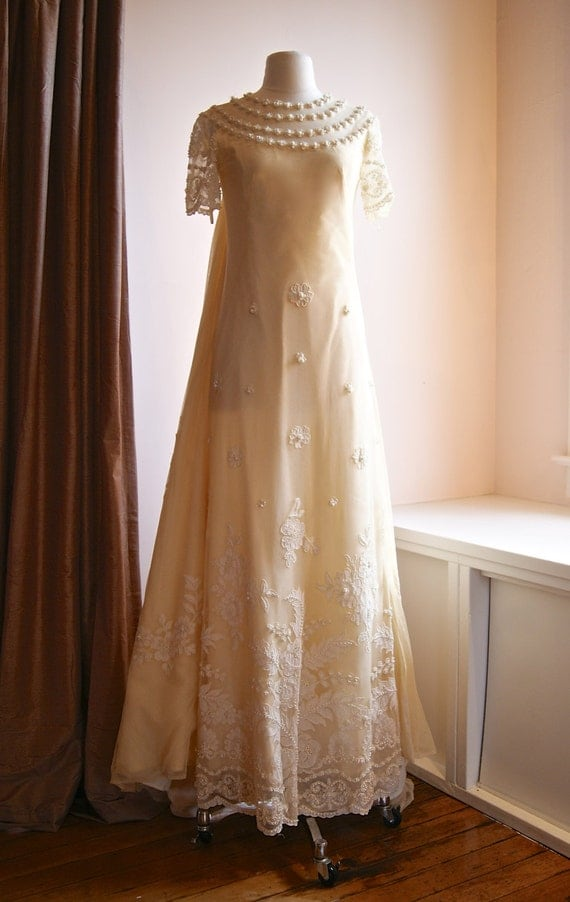Unavailable listing on etsy for 1960 style wedding dresses