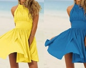 Gathered Halter Dress