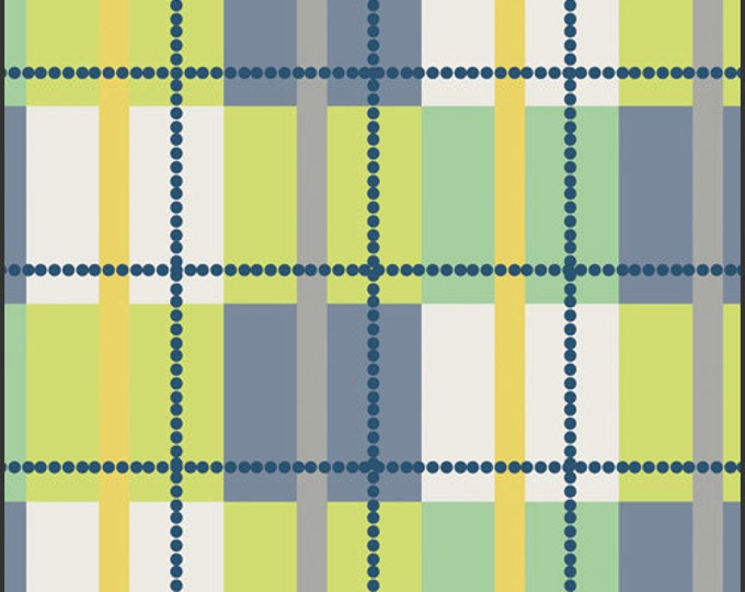 SALE 1 yard - Plaid SP5603 Grassy green , Spellbound by Patricia Bravo