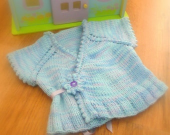 Knitting Pattern Crossover Top Down Cardigan Vest Sweater - Carina a top down seamless cardigan (6 sizes, 0 - 7 yrs)