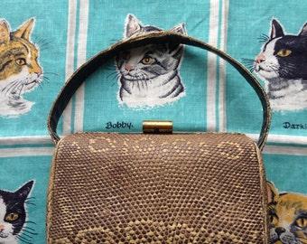 40's reptile, lizard handbag.