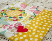 Small Security Blanket with Satin Backing and Ribbon Loop for Baby
