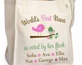World's best nana tote voted by flock personalized tote bag - great Mother's Day gift