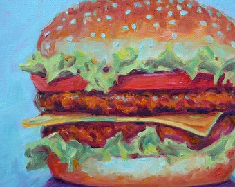 Cheeseburger 1 - Paper - Canvas - Wood Block