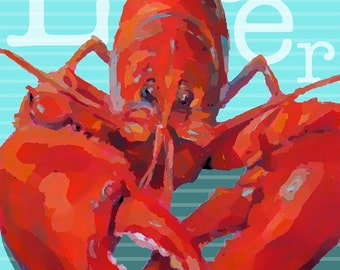 Lobster - Lobster Art - Graphic Style - Paper - Canvas - Wood Block