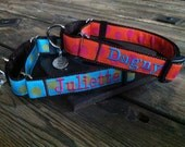 "Personalized Martingale Dog Collar. Personalized Slip Dog Collar. Dog Gone It. 1"" Width. Embroidered Dog Collar."