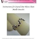 Crystal Sine Wave Chain Maille Bracelet Instructions PDF