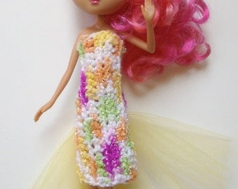 Handmade La Dee Da Monster High Ever After High Clothes Multi Color Dress