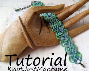Micro Macrame Tutorial - Leaves - Bracelet Pattern - Beaded Macrame - Jewelry Making - DIY
