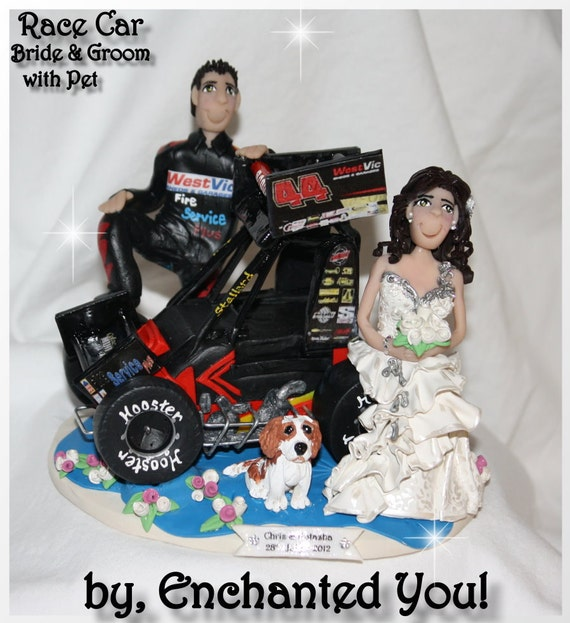 Race Car Cake Toppers For Wedding Cakes