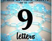 Modern String Art Wooden Name Tablet - 9 letters