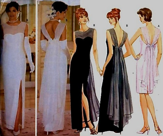 Wedding Gown Evening Dress Sewing Pattern Elegant Formal