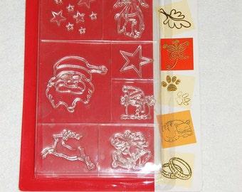 Christmas selection silicone stamp
