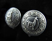 Vintage Peruvian Sterling Silver Llama Earrings