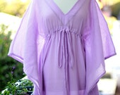 Caftan Maxi Dress - Beach Cover Up Kaftan in Lavender - 20 Colors