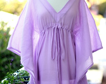 Caftan Maxi Dress - Beach Cover Up Kaftan in Lavender - 20 Colors