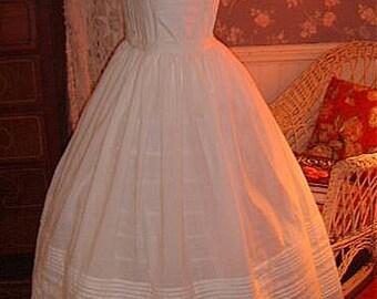Reprodcution Civil War Custom Made Multiple Tuck Petticoat