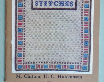 Canvas Stitches M Clutton U C Hutchinson M C Foster vintage sewing needlework embroidery book 30s 60s - history of textiles - canvas work