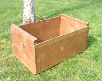 BIg Rustic Wooden Crate Natural Wood Large Price Lowered
