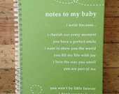 """Baby Pregnancy Journal """"Notes To My Baby"""" in Kiwi Green"""
